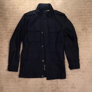 Navy Banana Republic Military Jacket